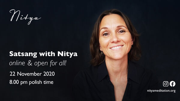 Open Satsang with Nitya online!